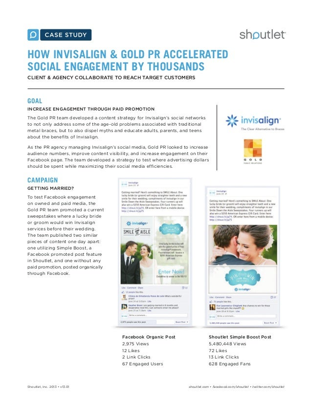 HOW INVISALIGN & GOLD PR ACCELERATED SOCIAL ENGAGEMENT BY THOUSANDS CLIENT & AGENCY COLLABORATE TO REACH TARGET CUSTOMERS ...