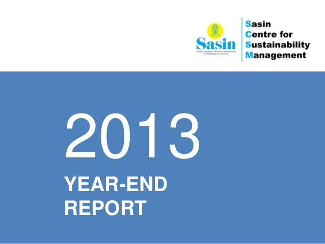2013 YEAR-END REPORT