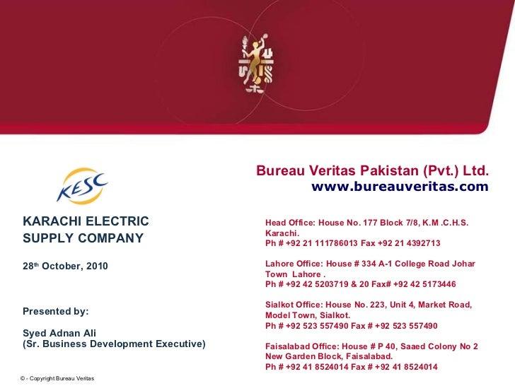 Presentation for kesc - Bureau veritas head office ...