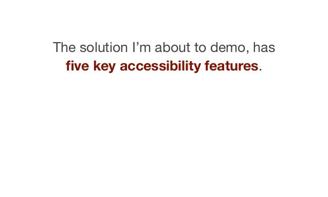 Well… many of these are not really features, they are just default behaviours that should not be overridden.