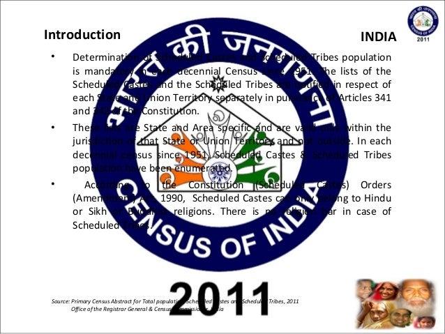 2011 Indian Census Scheduled Castes & Scheduled Tribes