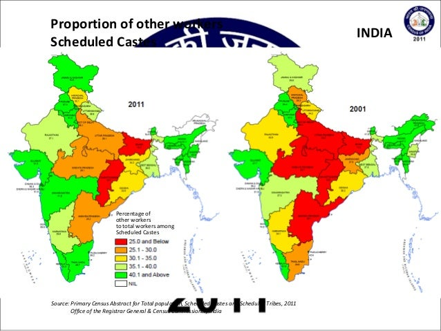 2011 Indian Census Scheduled Castes & Scheduled Tribes