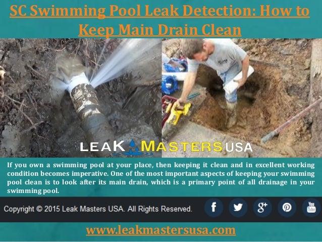 Sc swimming pool leak detection Swimming pool leak detection and repair