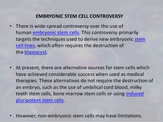 stem cell debate research paper This article is brought to you for free and open access by the aquila digital   controversy regarding human embryonic stem cell (hesc) research is evident  in.