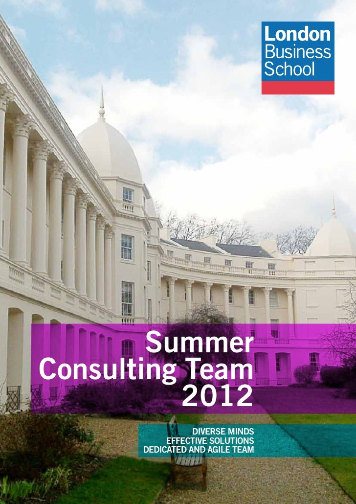 SummerConsulting Team           2012                  DIVERSE MINDS            EFFECTIVE SOLUTIONS       DEDICATED AND AGI...