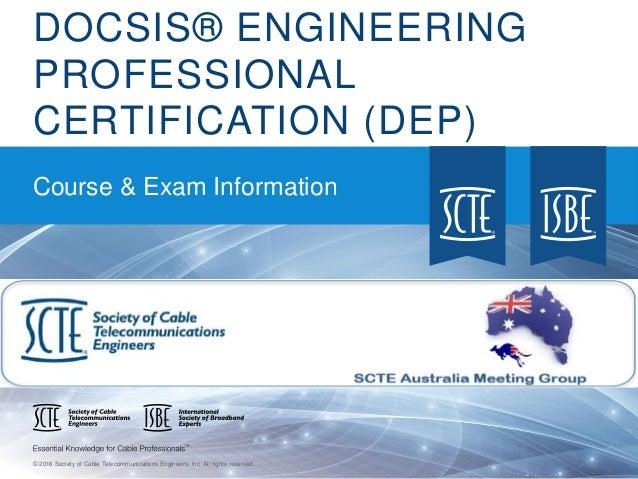 docsis engineering professional dep certification rh slideshare net Exam Study Guide Brady Michael Morton Cicerone Exam Study Guide