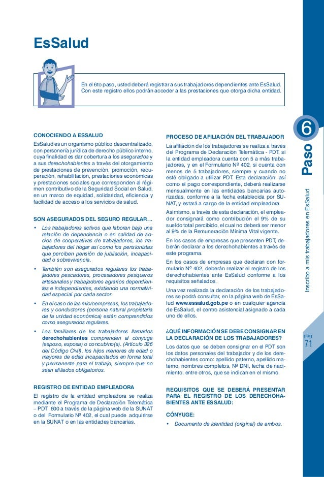 Sctr es salud for Formulario trabajadores del hogar