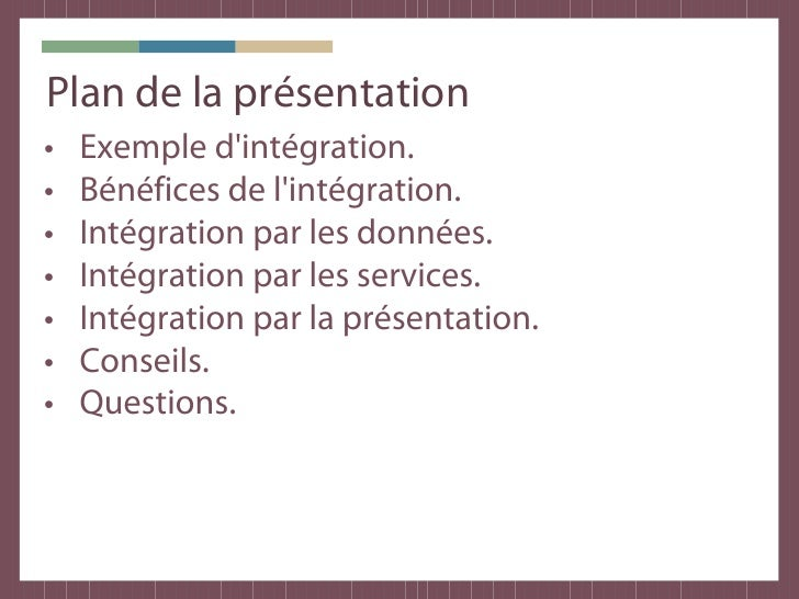 exemple planning d u0026 39 integration