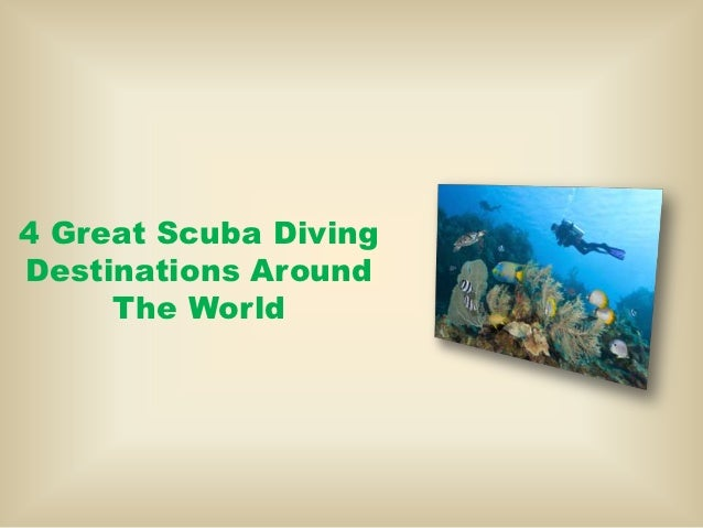 4 Great Scuba DivingDestinations Around     The World