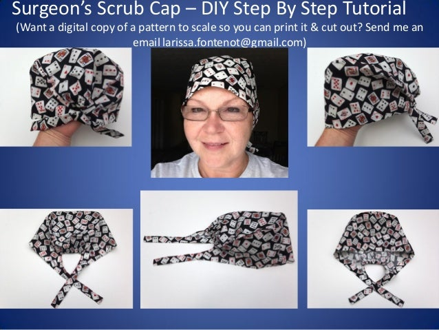 Scrub Caps Printable Pattern And How To Diy Tutorial