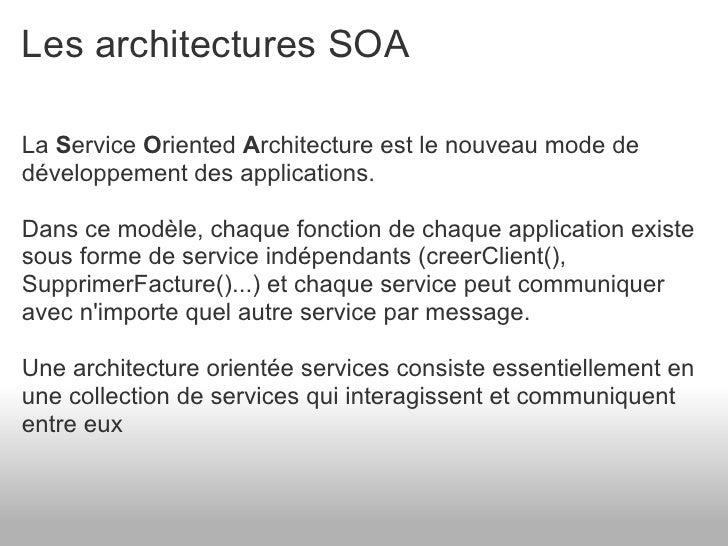 Pr sentation de jee et de son cosysteme for Architecture orientee service