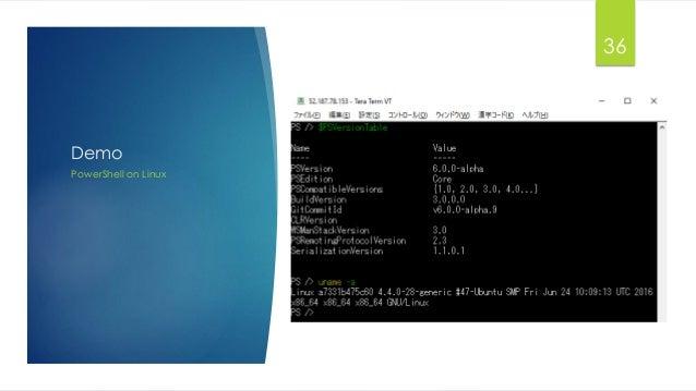 Demo PowerShell on Linux 36