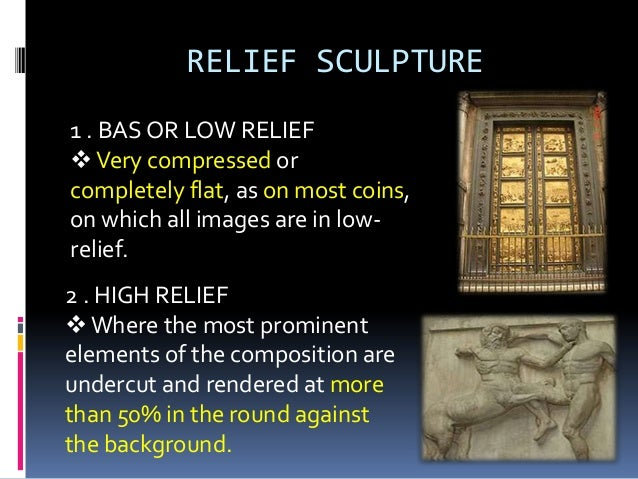 Low relief carving definition pan sculpture on aile
