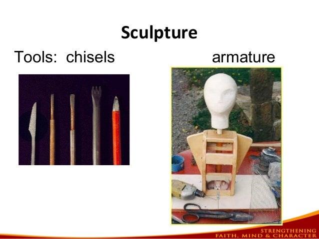 Sculpture Tools: chisels armature