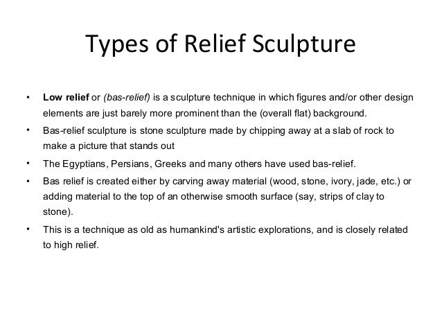 Sculpture in relief