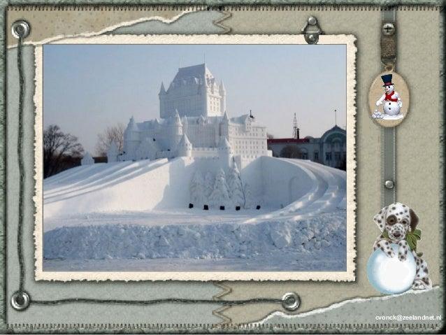 Sculptures de neige Slide 2