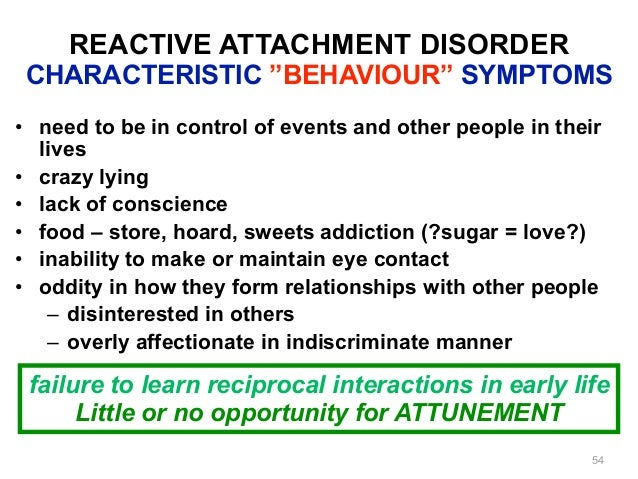 Adult attachment disorder in