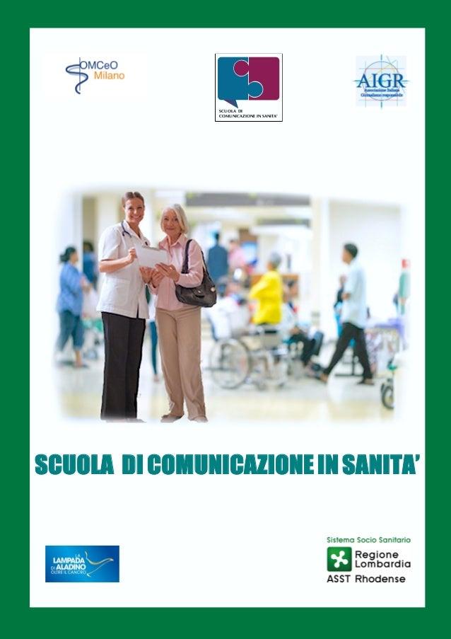 Libretto scuola comunicazione sanita 39 for Scuola di comunicazione