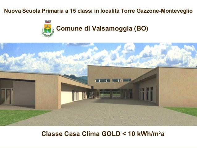 Nuova Scuola Primaria a 15 classi in località Torre Gazzone-Monteveglio Classe Casa Clima GOLD < 10 kWh/m2 a Comune di Val...