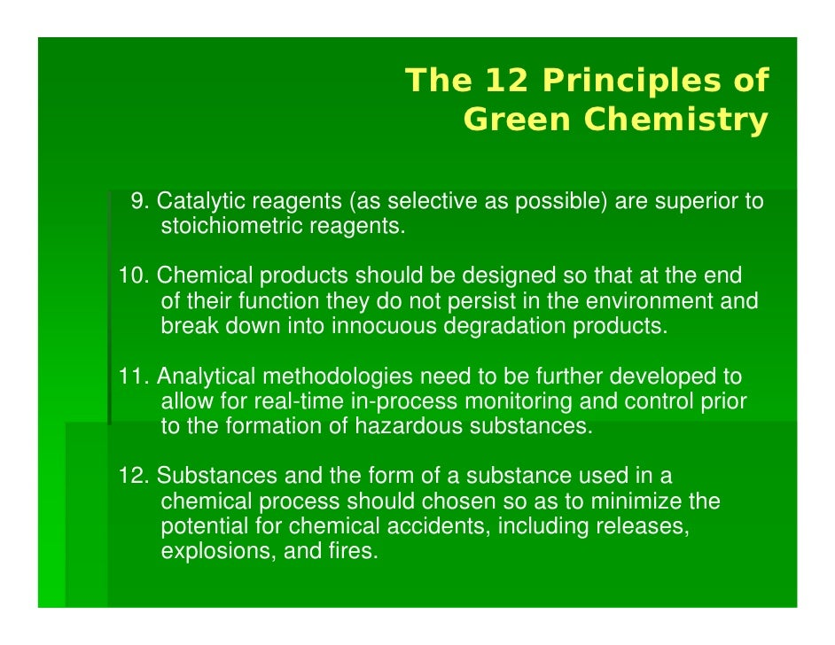 The Case for Green Chemistry: Integrating Sustainability into Cirricu…