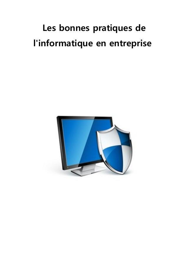 Les bonnes pratiques de l'informatique en entreprise