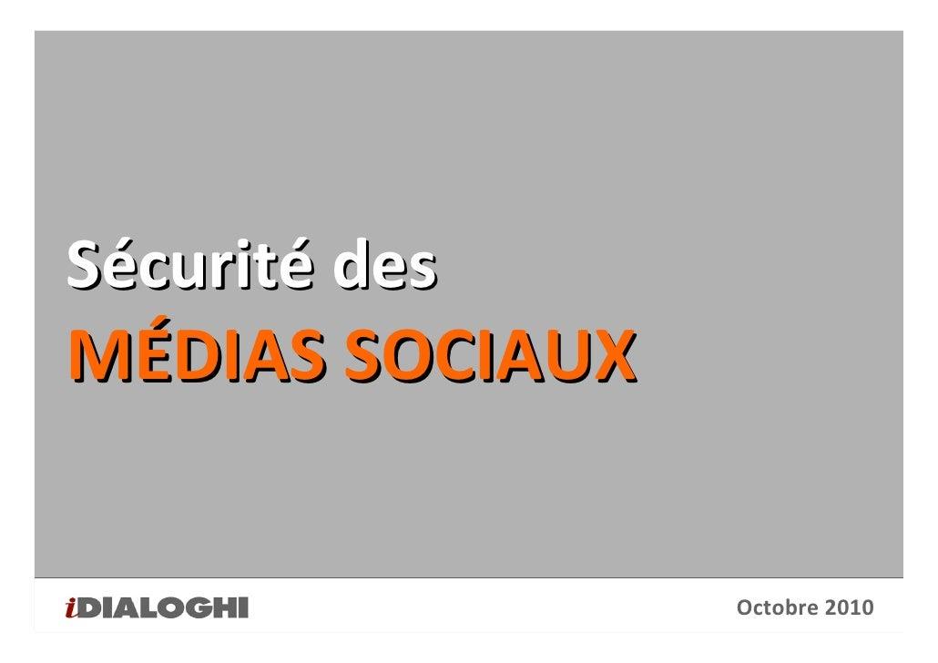 Sécurité des médias sociaux
