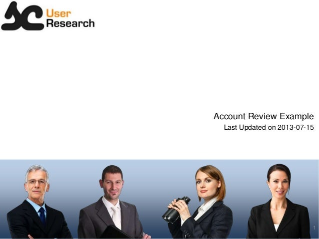 Account Review Example Last Updated on 2013-07-15 1