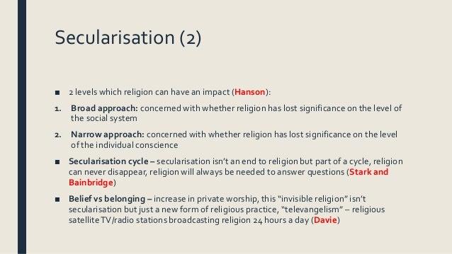 secularization a bibliographic essay