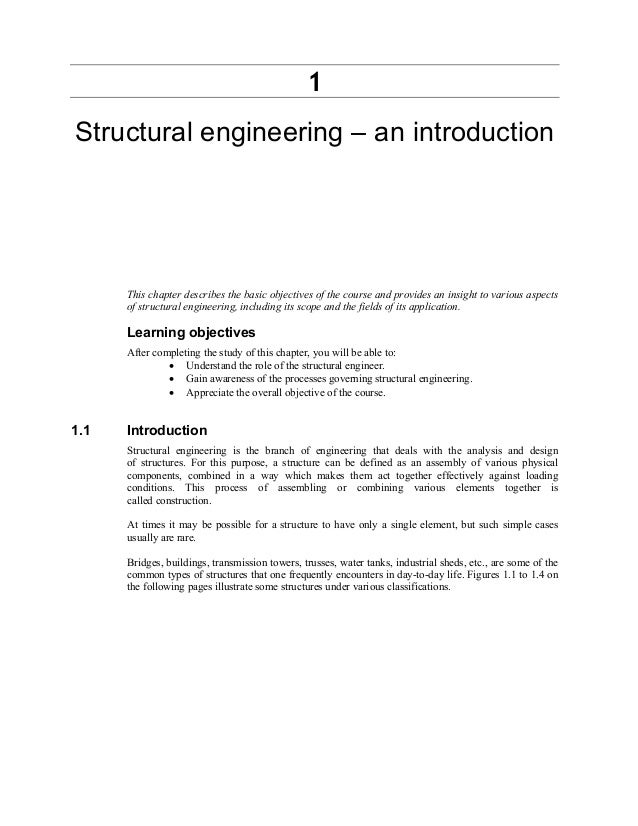 1 Structural engineering – an introduction This chapter describes the basic objectives of the course and provides an insig...