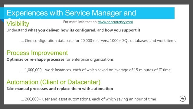 Configuring Service Manager for Performance and Scale - MMS2013 Presentation Slide 3