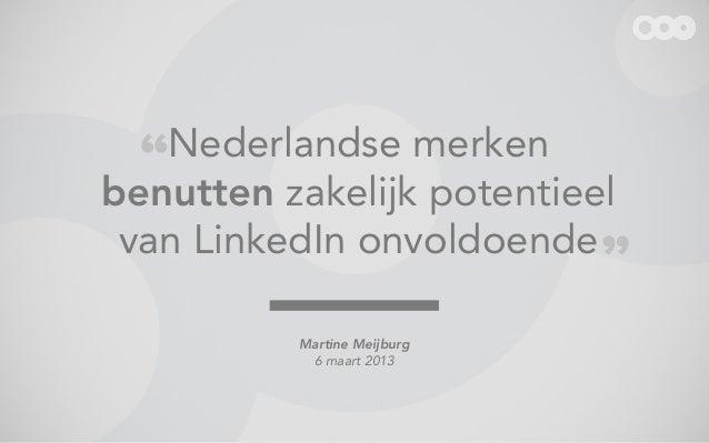 LinkedIn Marketing in Nederland Slide 2