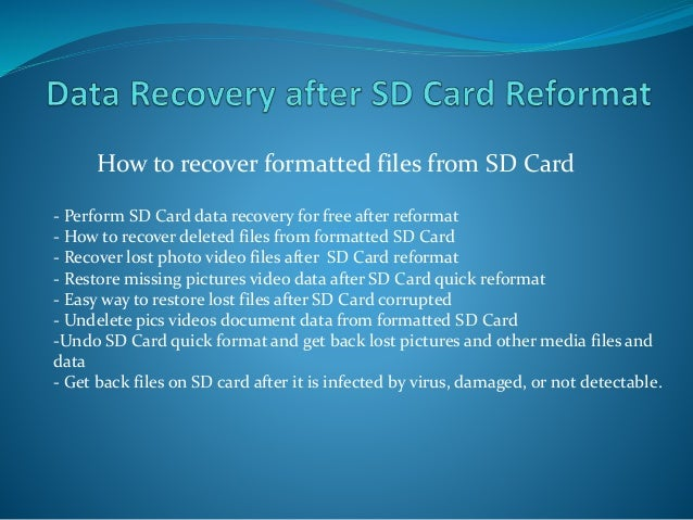 Data recovery after format pen drive