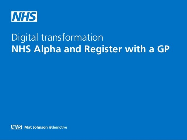 Mat Johnson @demotive Digital transformation