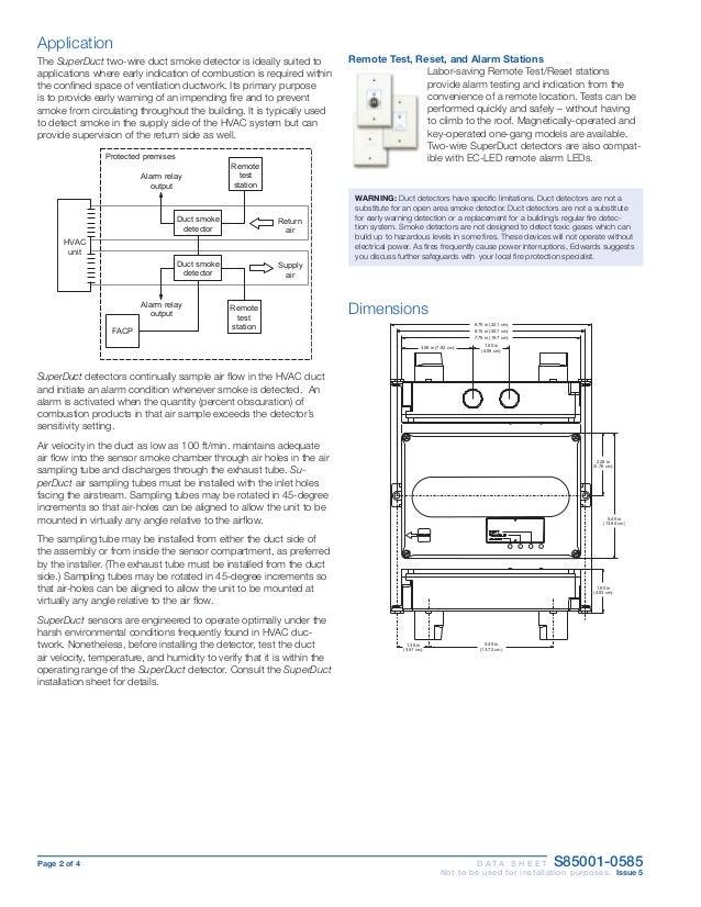 edwards signaling sd ph data sheet rh slideshare net Old Smoke Detectors Wiring-Diagram Smoke Detector Electrical Wiring
