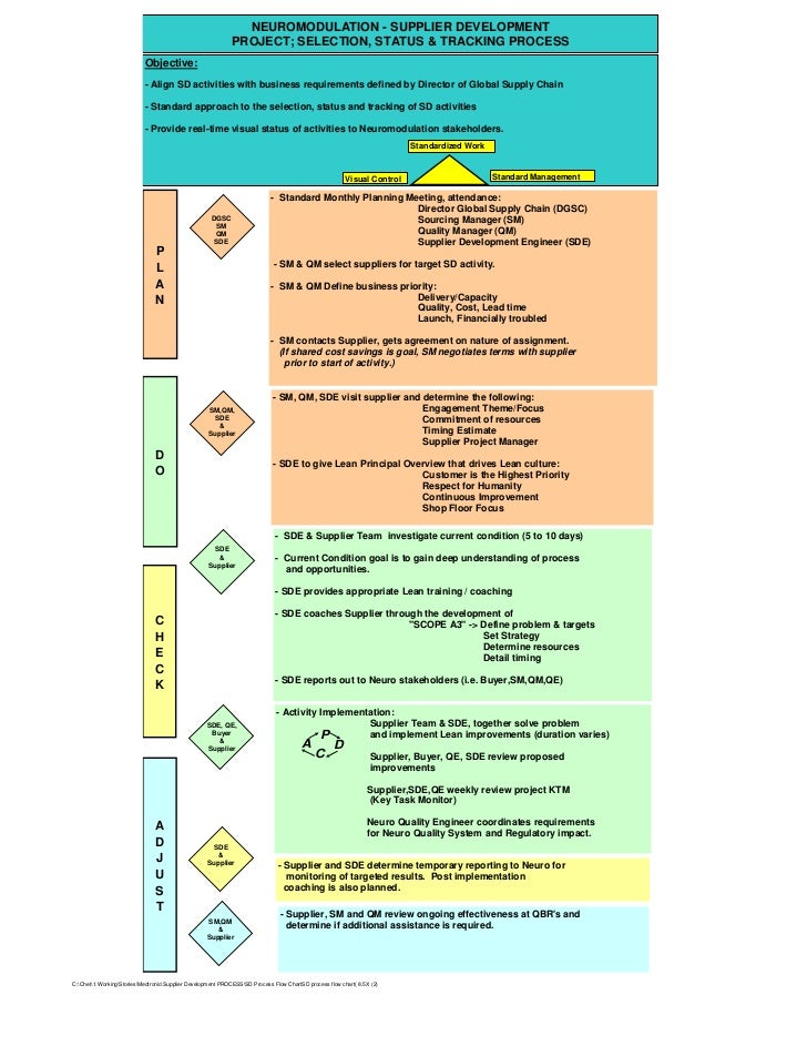 NEUROMODULATION - SUPPLIER DEVELOPMENT                                                            PROJECT; SELECTION, STAT...