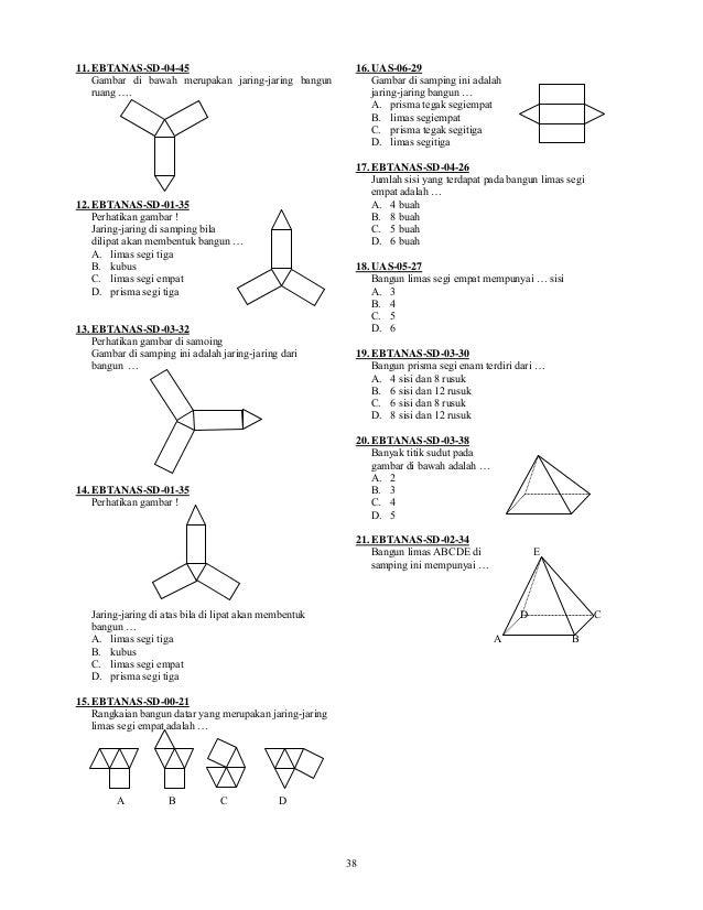 Soal Geometri Sd Kelas 4 Gambar Soal Matematika Kelas 1 Sd Bab 4 Bangun Ruang Kunci Di Rebanas