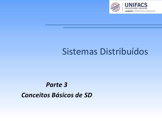 Parte 3Conceitos Básicos de SDSistemas Distribuídos