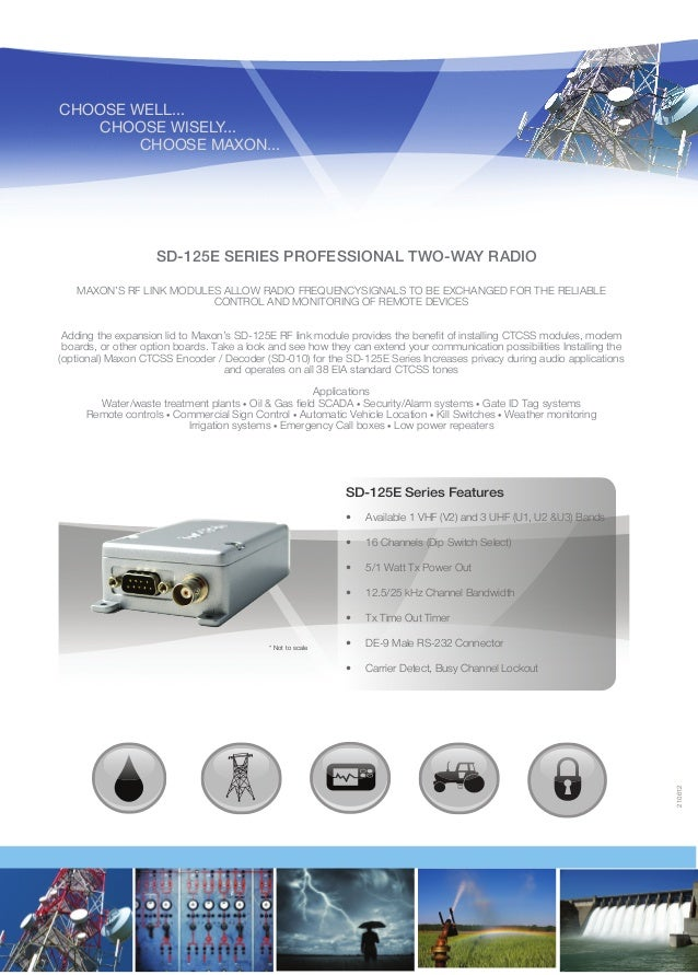 CHOOSE WELL...  CHOOSE WISELY... CHOOSE MAXON...  SD-125E SERIES PROFESSIONAL TWO-WAY RADIO MAXON'S RF LINK MODULES ALL...