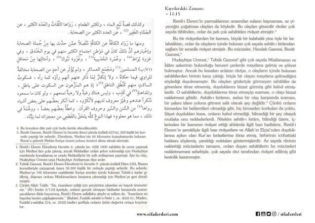 Şifa-i Şerif - 78.Ders - Resûl-i Ekrem'in Mûcizeleri ve Mûcizenin Mânası - 2.Nisan.2017 Slide 3