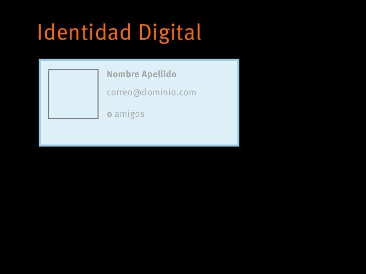 Identidad Digital       Nombre Apellido       correo@dominio.com       0 amigos