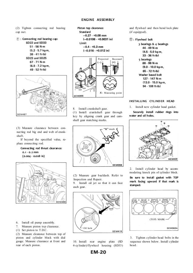 Nissan Sd33 Manual