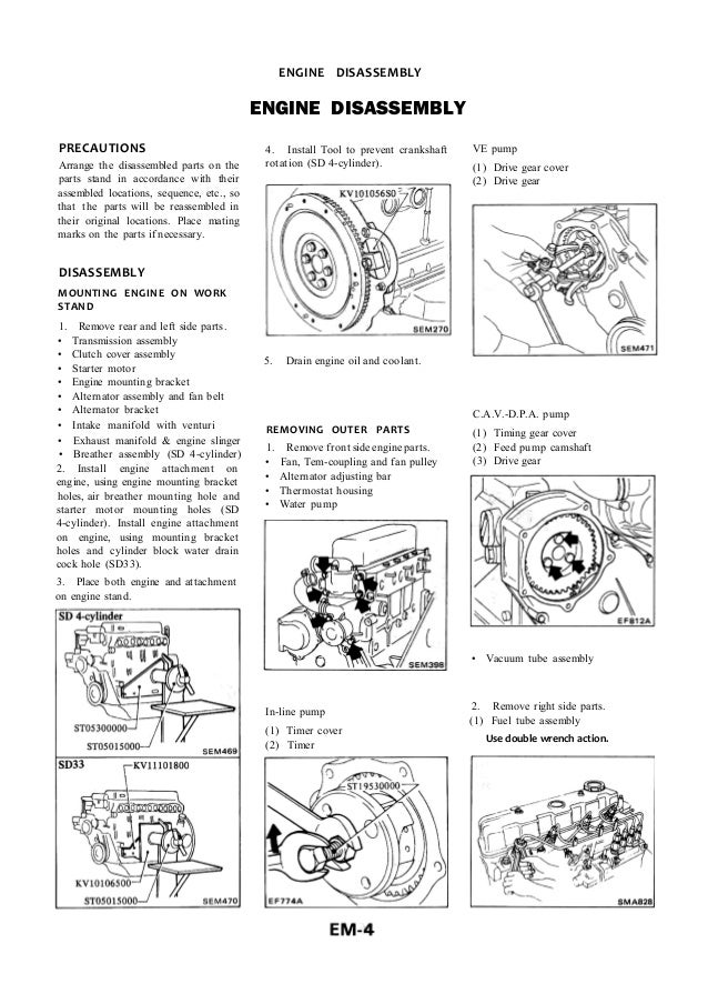 Nissan Sd23 Manual De Taller