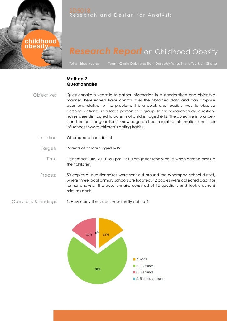 report on child obesity New data published in the journal pediatrics reports that childhood obesity is not  improving, and actually rose from 9-14% since 1999.