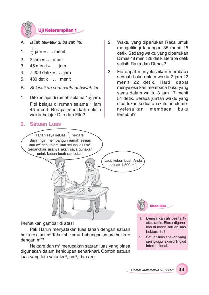 Jawaban Buku Gemar Matematika Kelas 6 Ilmusosial Id