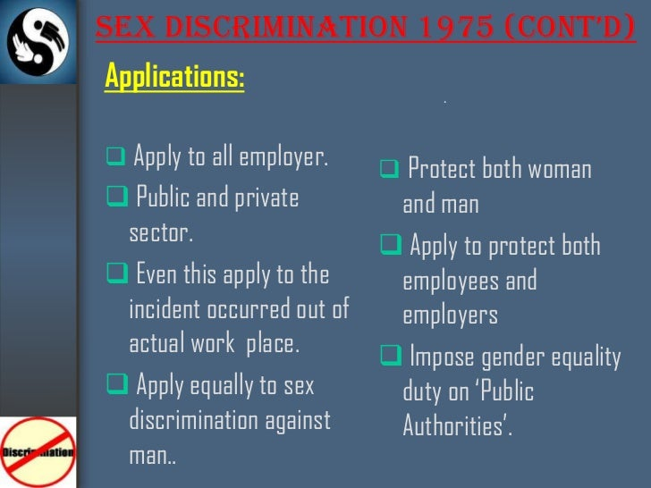Section 7 2 b of the sex discrimination act 1975