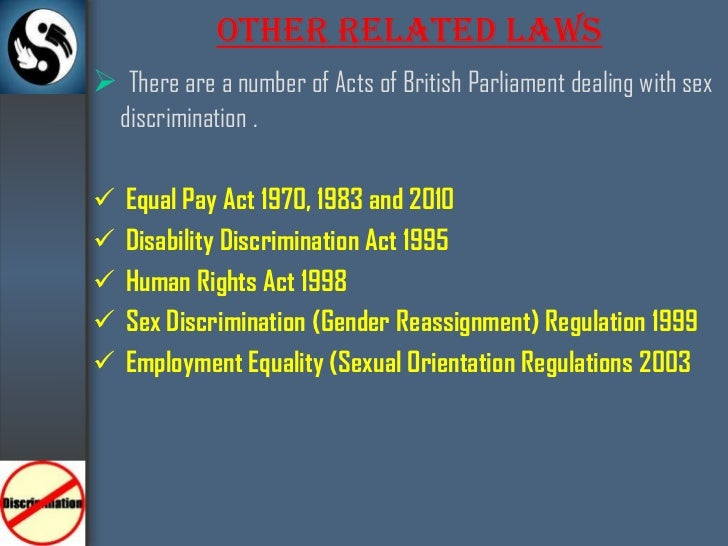 sex discrimination act in sport