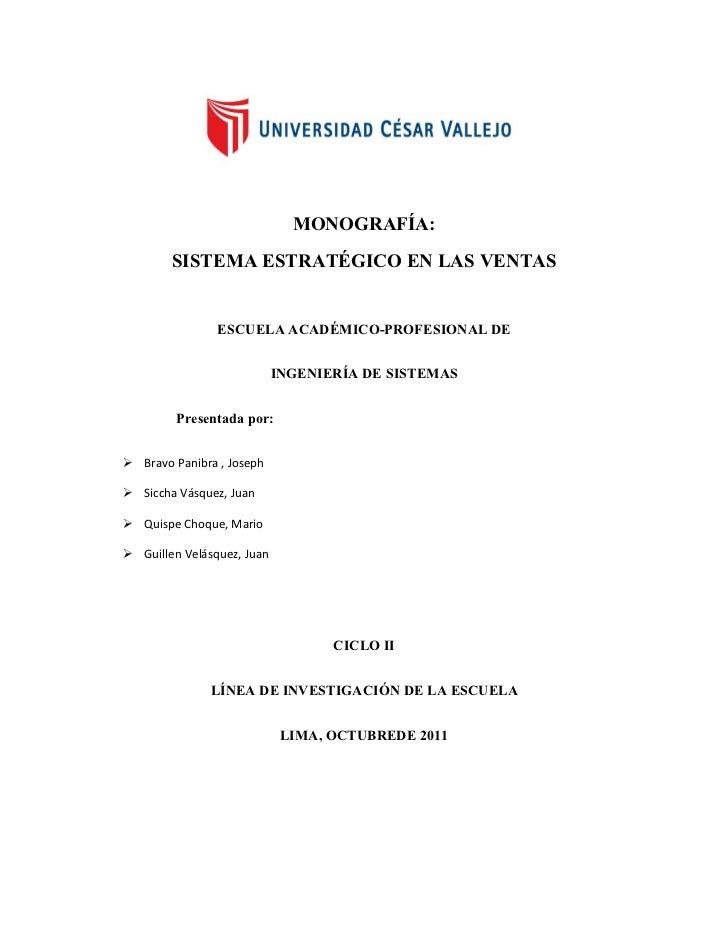 LOS SISTEMAS ESTRATEGICOS EN LAS VENTAS COMPLETO