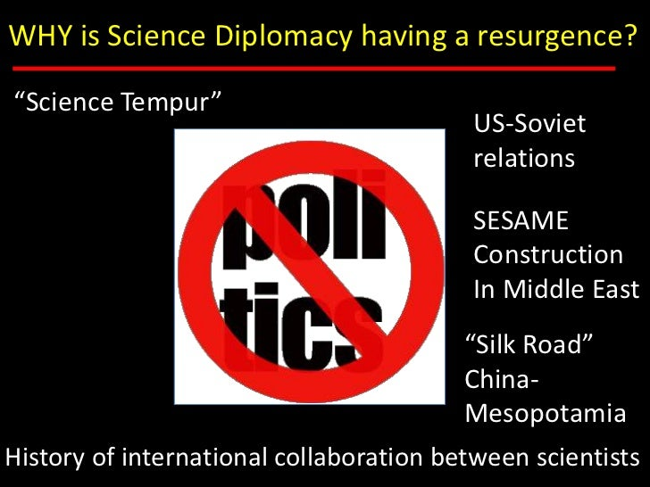 Science Diplomacy: Why, Where and How Slide 3