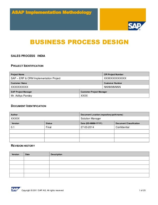 Sap sd business blue print e1 sales template copyright 2011 sap ag all rights reserved 1 of 25 asap implementation methodology business malvernweather Choice Image
