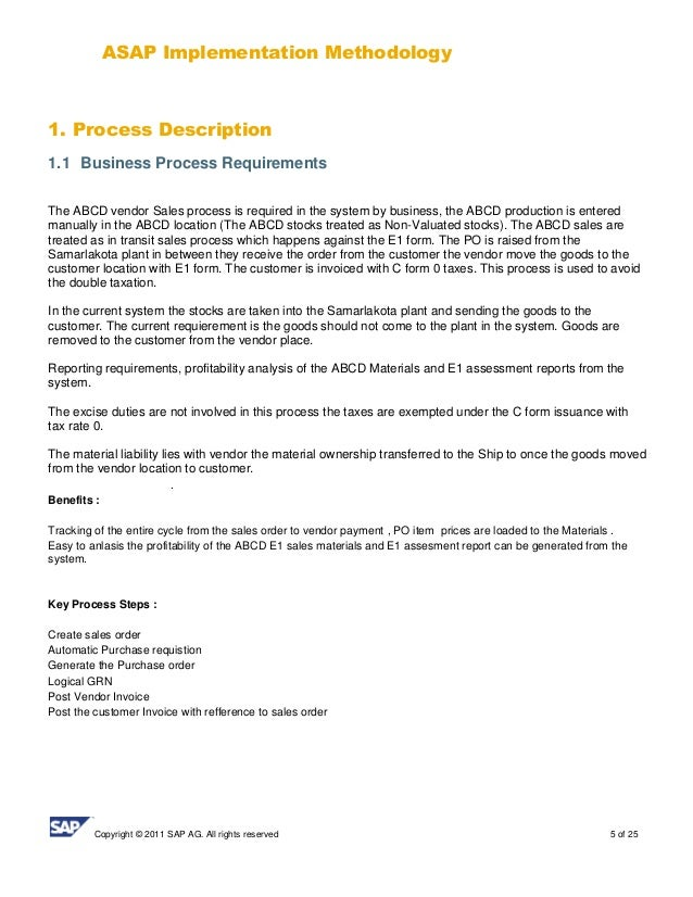 24 5 - Business Process Requirements Template